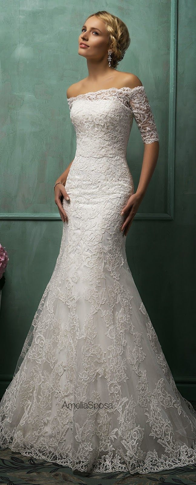 Gorgeous amelia sposa wedding dress and ium not one for sleeves