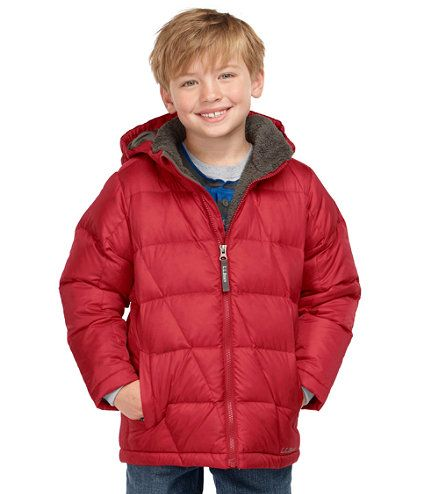 Boys' Bean's Fleece-Lined Down Jacket: Jackets and Parkas | Free ...