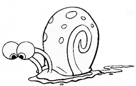 Pictures Of Gary The Snail | Adorable animals | Coloring pages ...