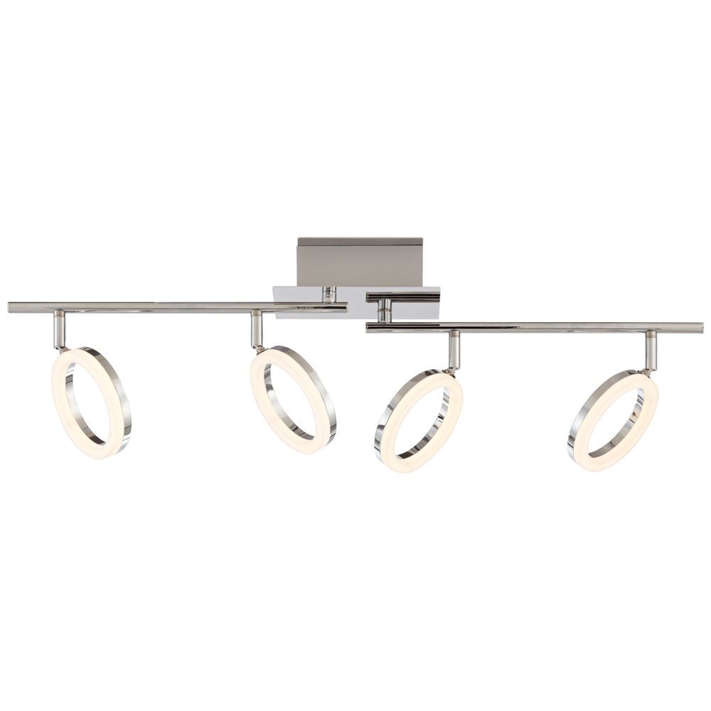 Halo 4 Light Chrome Led Track Fixture