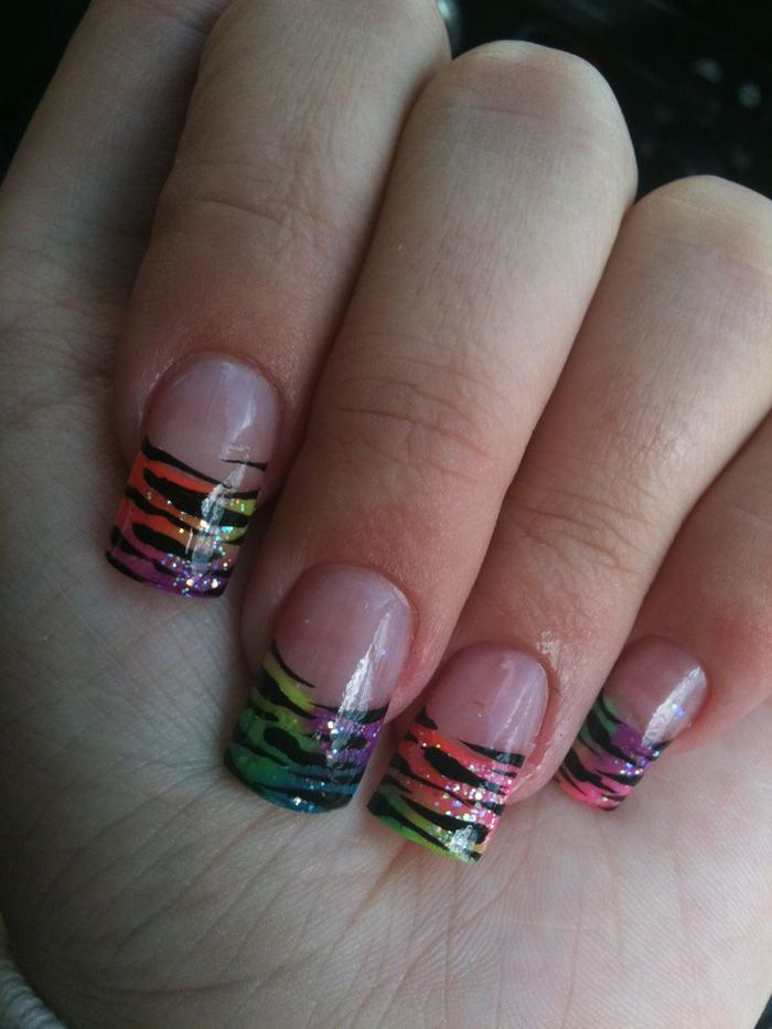 cute animal print acrylic nail designs wwwpixsharkcom