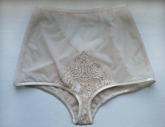 4eeab040730 Nude lace panties Strap panties Tulle panties Mesh panties Sheer panties  Sexy panties Bride panties