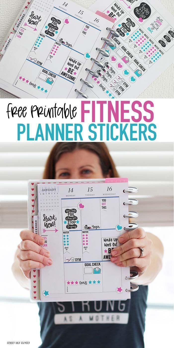 Rock Your Goals with a FREE Fitness Planner Stickers Printable ,  #Fitness #Free #Goals #Planner #Pr...