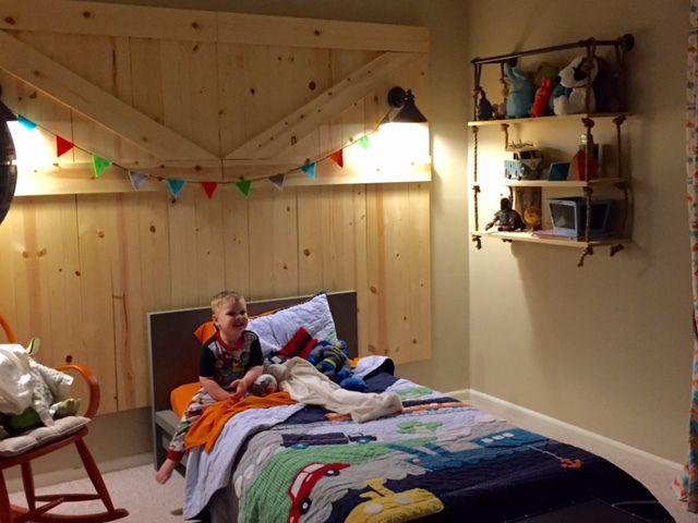 Fun and adventurous rustic baby room!