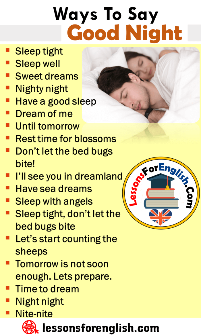 Funny Ways To Say Goodnight : funny, goodnight, Speaking