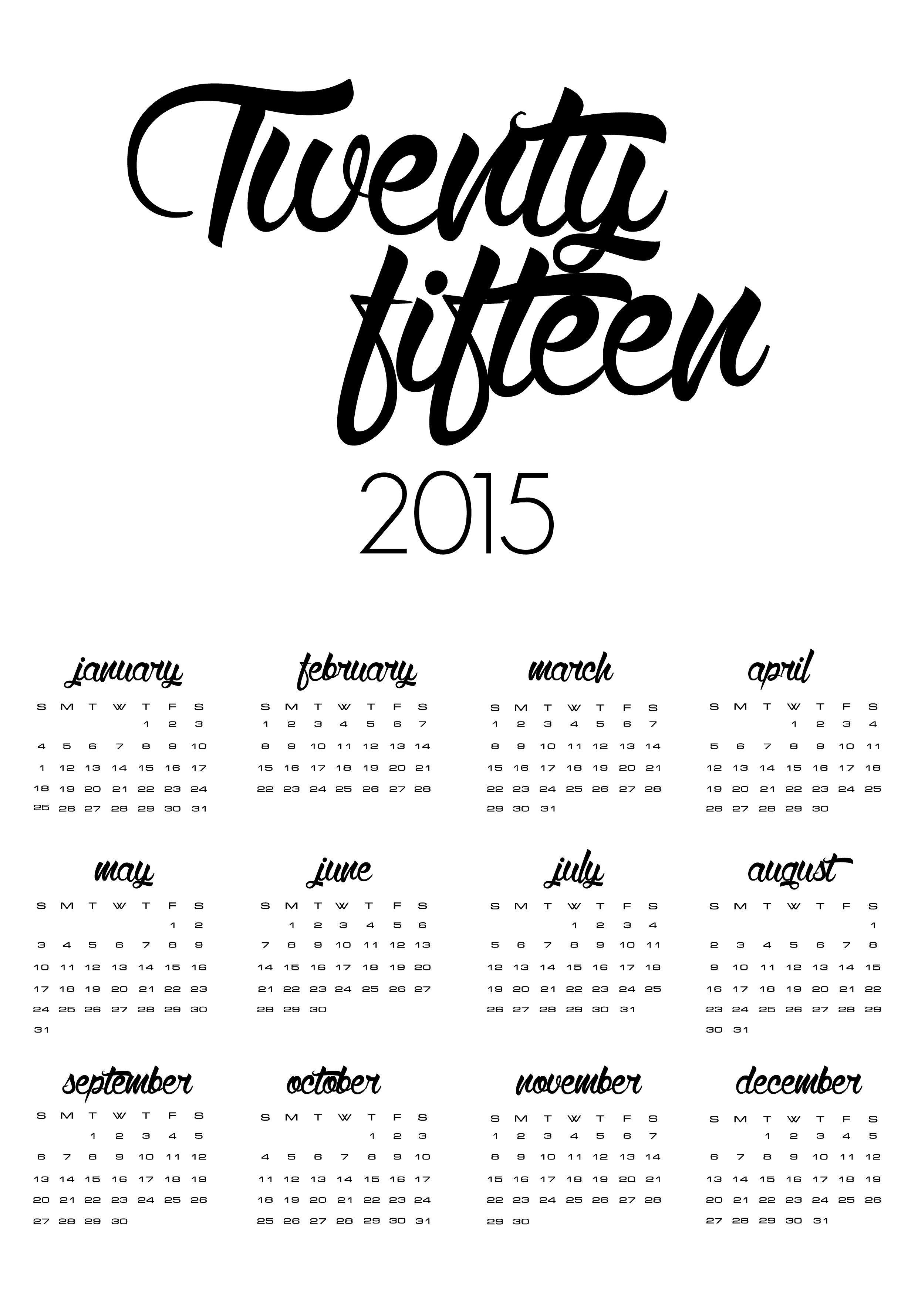 Il calendario del 2015 di cafelab è GRATIS!