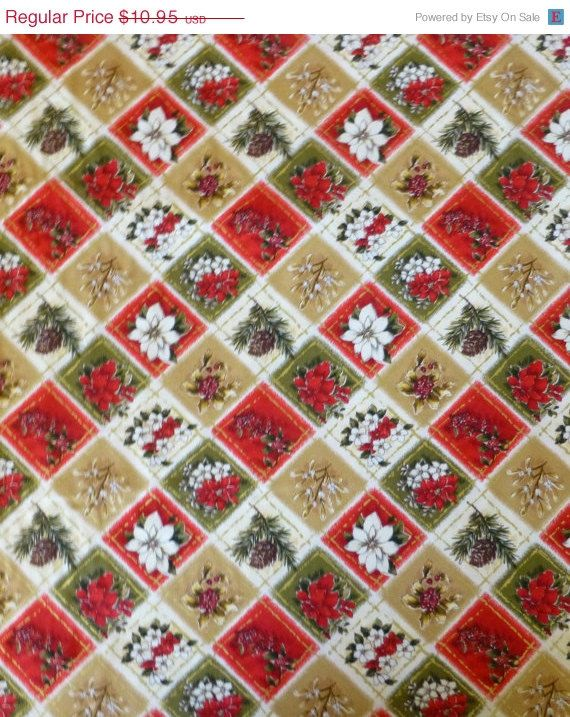 50 OFF New Year SALE - Cotton Fabric, Quilt, Home Decor, Craft - christmas clearance decor