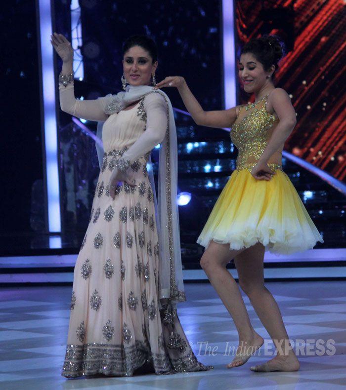 Kareena Kapoor Khan with contestant Sophie Choudry on 'Jhalak Dikhhla Jaa'. #Style #Bollywood #Fashion #Beauty