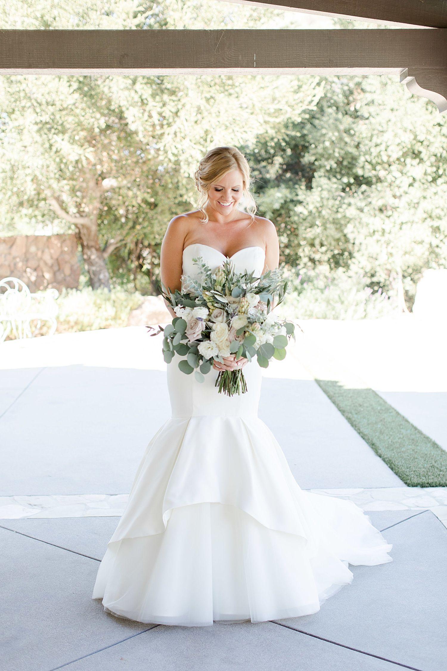 Bridal Gown Justin Alexander Bridal Shoes Badgley Mischka