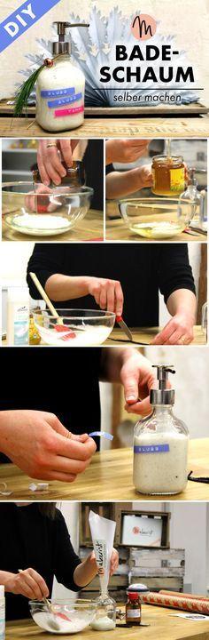badeschaum selbst machen diy anleitung via badeschaum selber machen. Black Bedroom Furniture Sets. Home Design Ideas