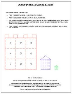letter a learning math u see decimal printable math fractions 5905