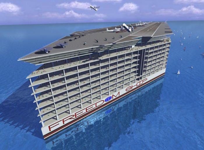 """En 2014 podría comenzar la construcción del """"Freedom Ship"""", la ciudad flotante."""