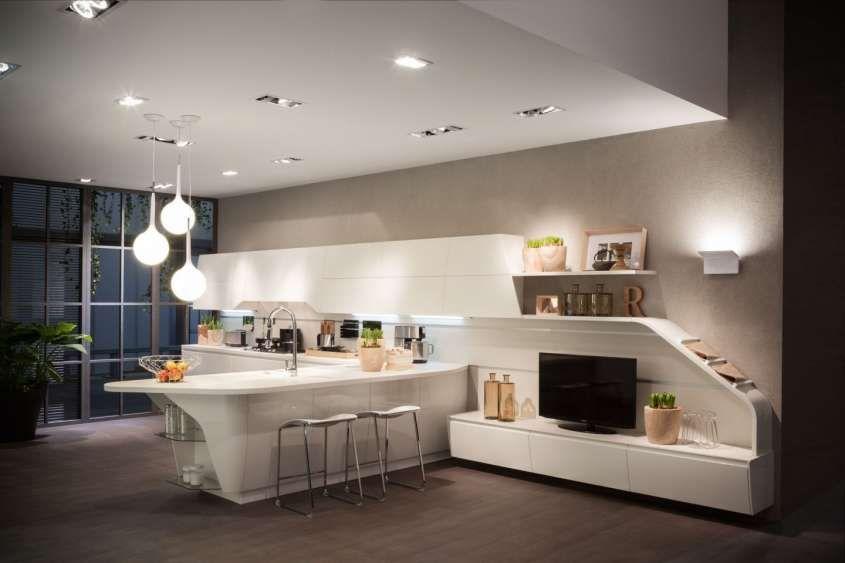 Cucina E Soggiorno Open Space Con Immagini Piani Di Lavoro