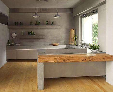 küche interior aus beton-küchenarbeitsplatte aus beton | casa novo, Kuchen dekoo