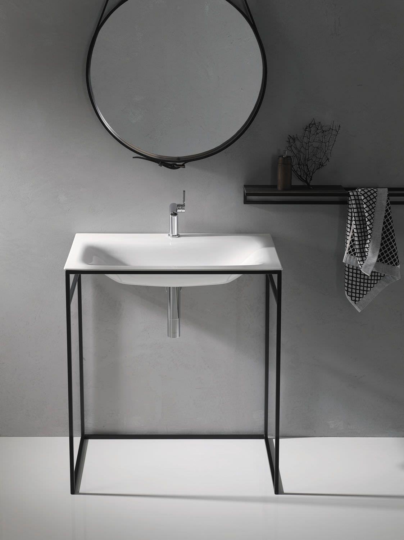 Stand Waschbecken / Rechteckig / Aus Stahl / Modern BETTELUX SHAPE BETTE ®