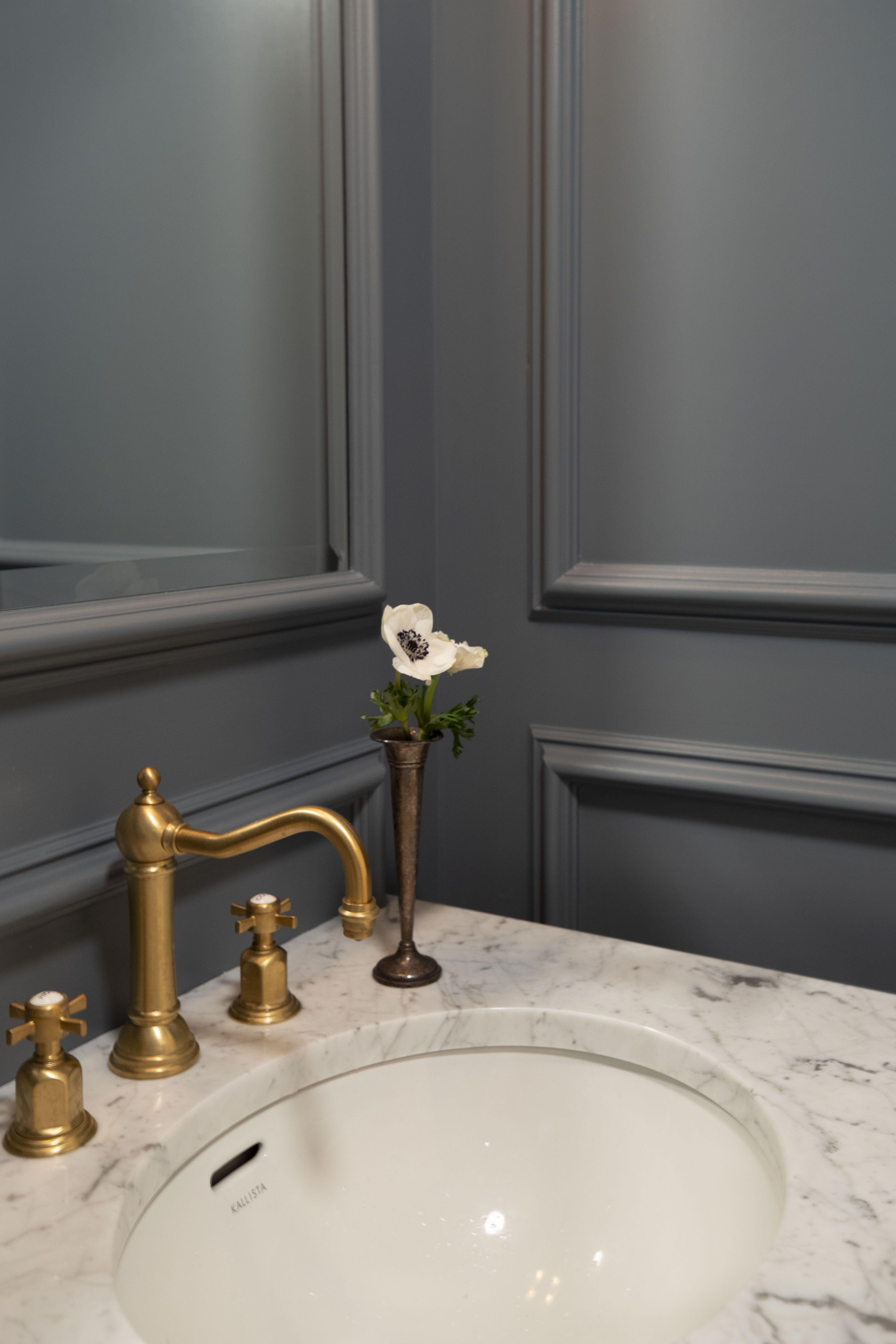 Classic Modern Powder Room Design In Philadelphia Pa Interiors