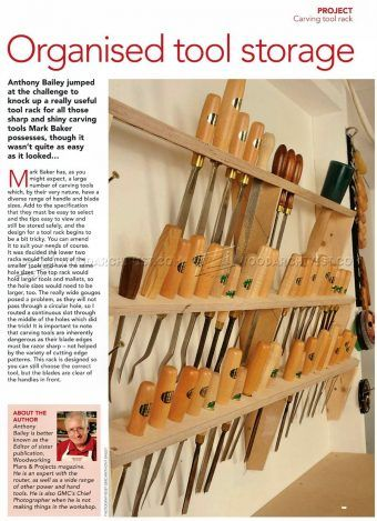 #1073 Wood Carving Tool Rack - Wood Carving