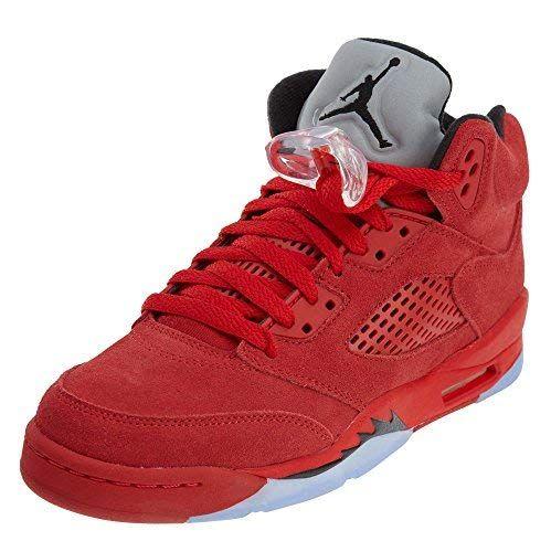 the best attitude 573a4 455a7 Jordan Kid s Air 5 Retro BG UNIVERSITY RED BLACK-UNIVERSITY RED Youth Size  4.5