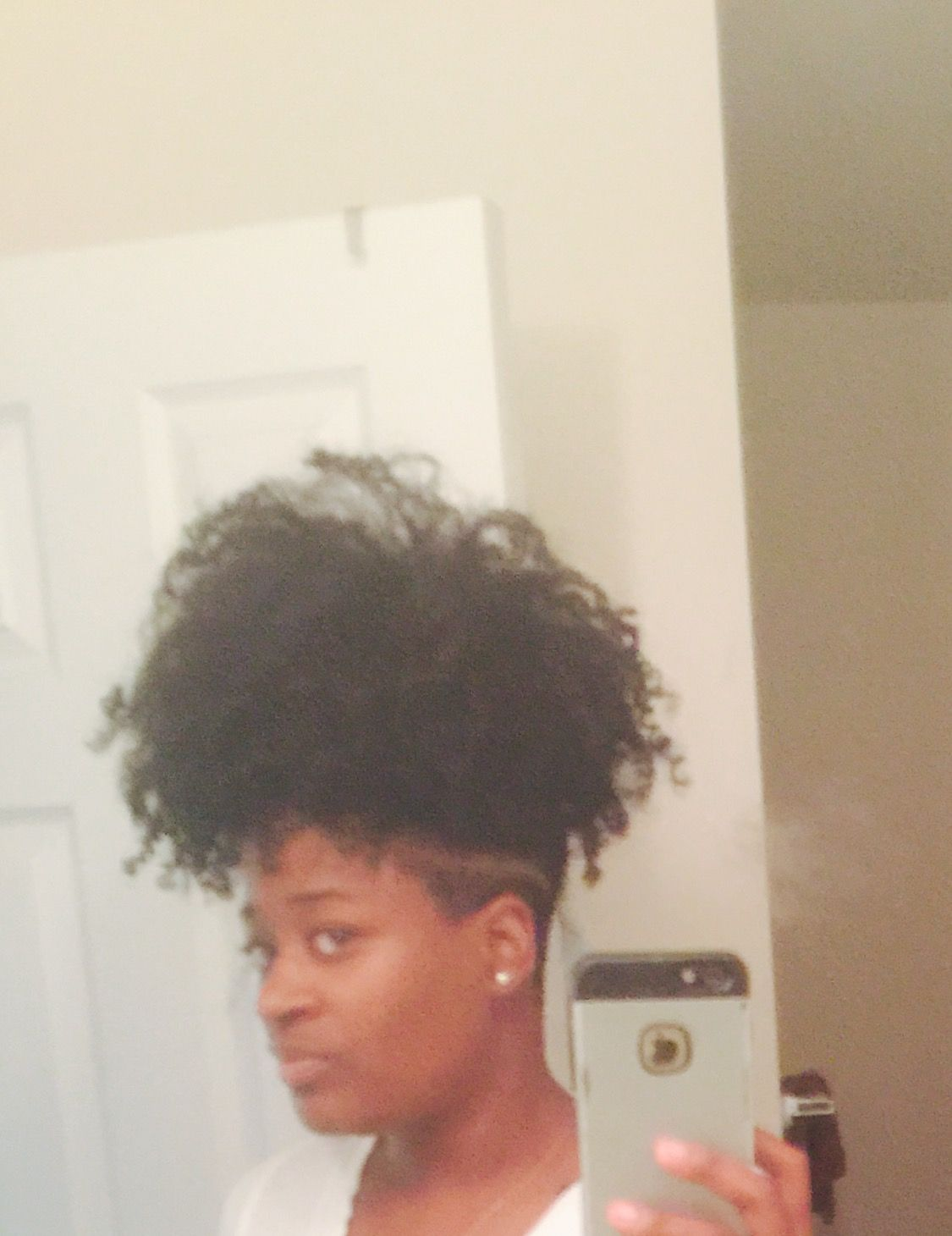 I Extended My Nape Undercut With Images Undercut Natural Hair Short Hair Undercut Edgy Hair