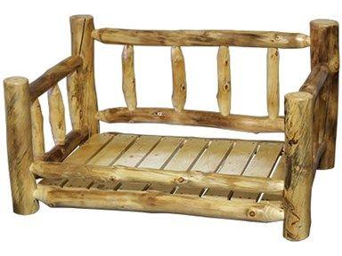 Shop For Rustic Log Pet Bed (Medium) In Natural Log, SPBE ME