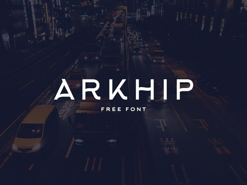 Arkhip Free Font Typeface With Latin And Cyrillic Letters