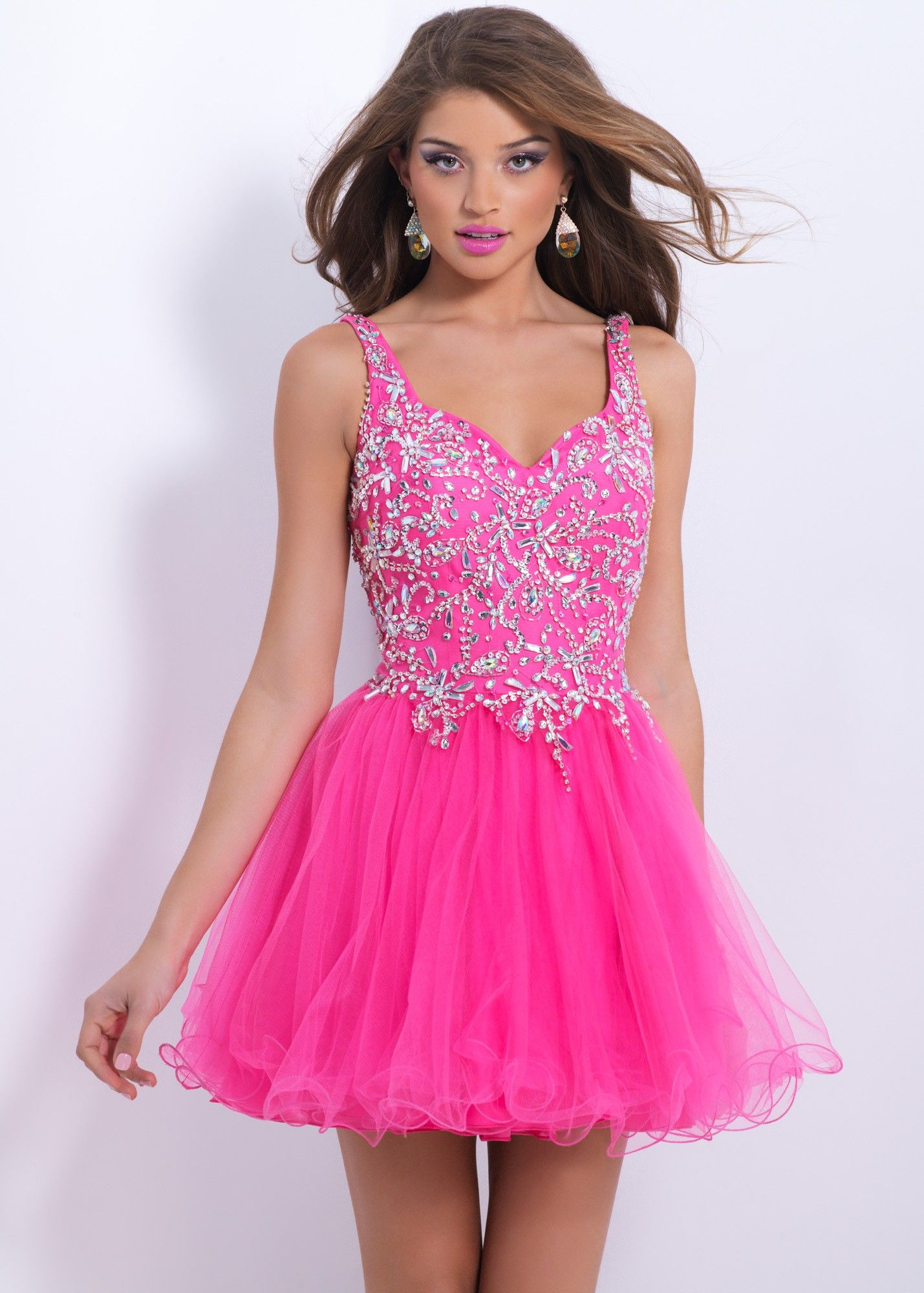 Jewels and crystals define your bodice in this sexy dance dress. The ...