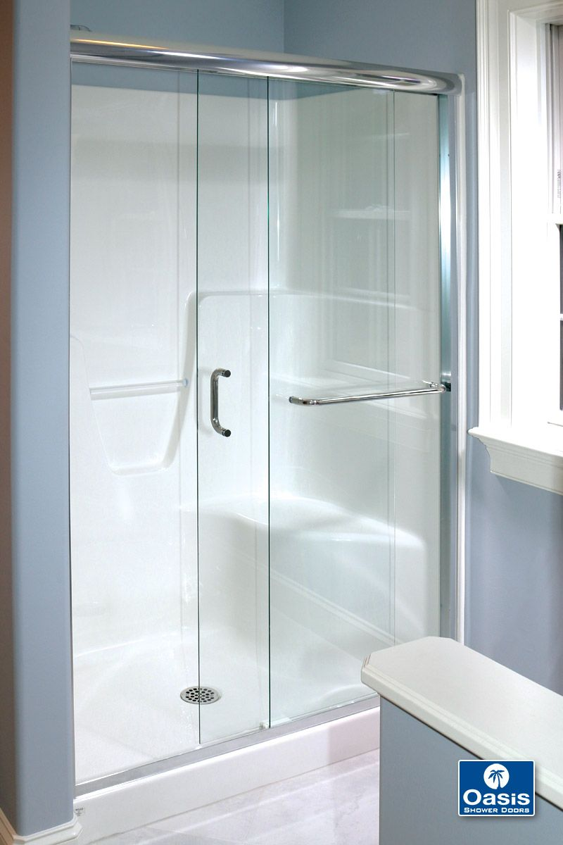 Oasis Frameless Bypass Doors Are Available In 1 4 Inch And 3 8 Inch Glass And Can Be Used For Both Walk In And Tub Configurations By Pass Doors Shower Doors Doors Locker Storage