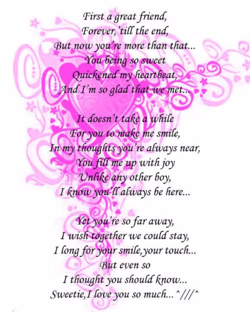 Cute i like you poems for him
