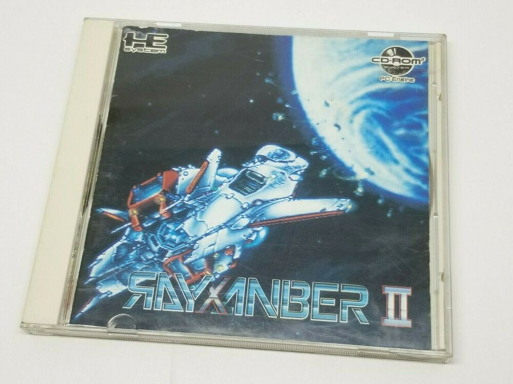 NEC PC Engine CD-Rom RAYXANBER II 2 Shooter Japan 0326A1 #NEC