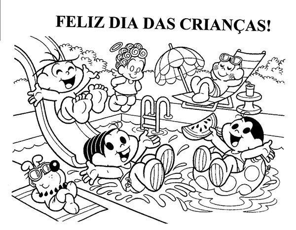Dia Das Criancas Desenhos Para Colorir 4 Desenho Dia Das Criancas Criancas Para Colorir Monica Para Colorir