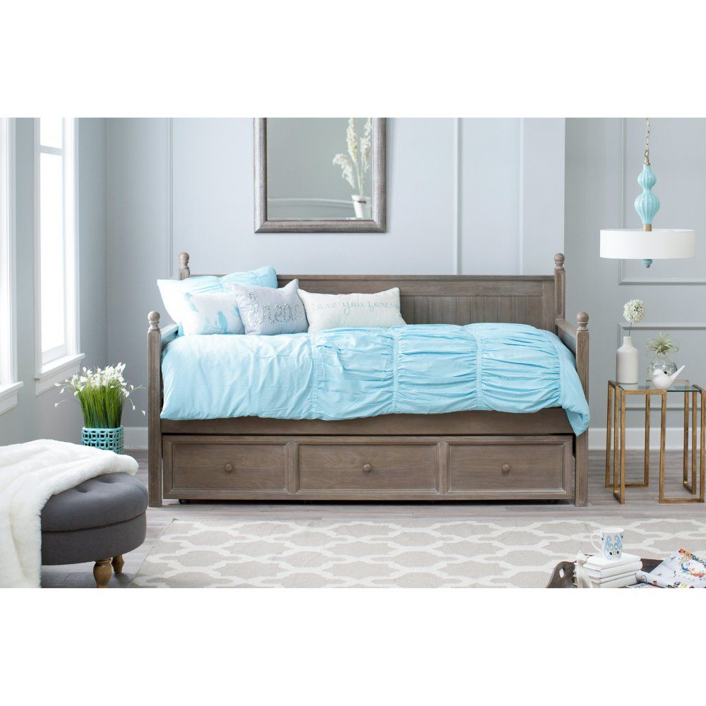 Daybed with trundle full size belham living casey daybed  washed gray   spare bedroom overhaul