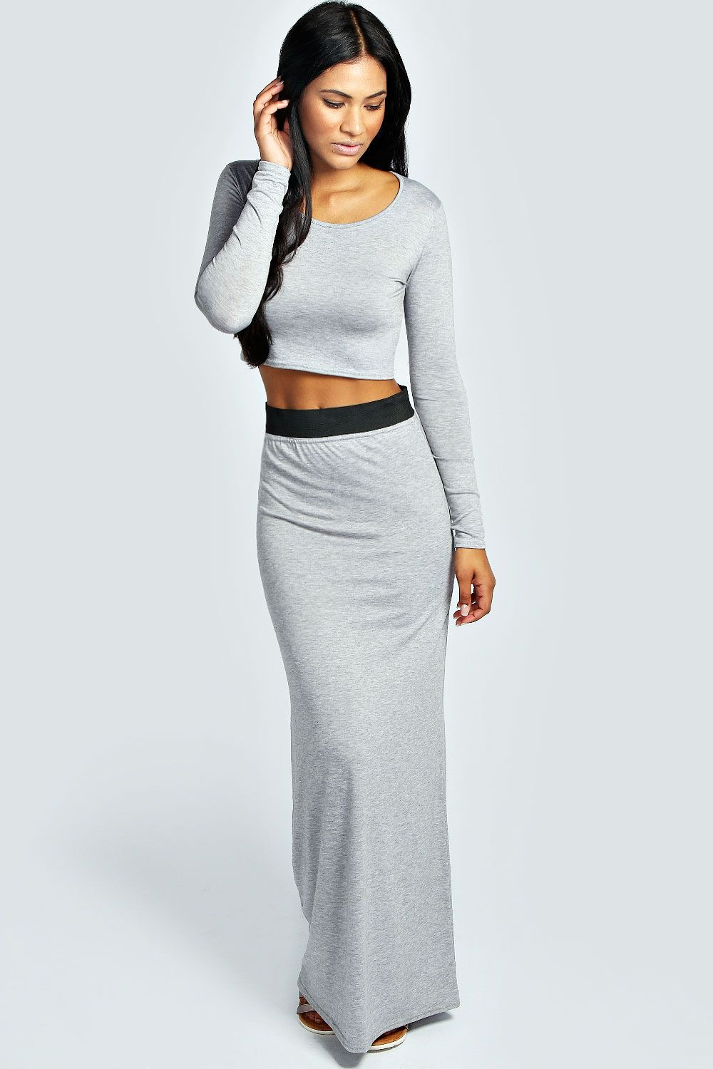 Evelyn Two Part Leather Sandal | Long sleeve crop top, Fall ...