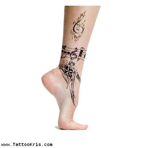 Zumba Tattoo Ideas: Dance Tattoo Designs For Girls 1