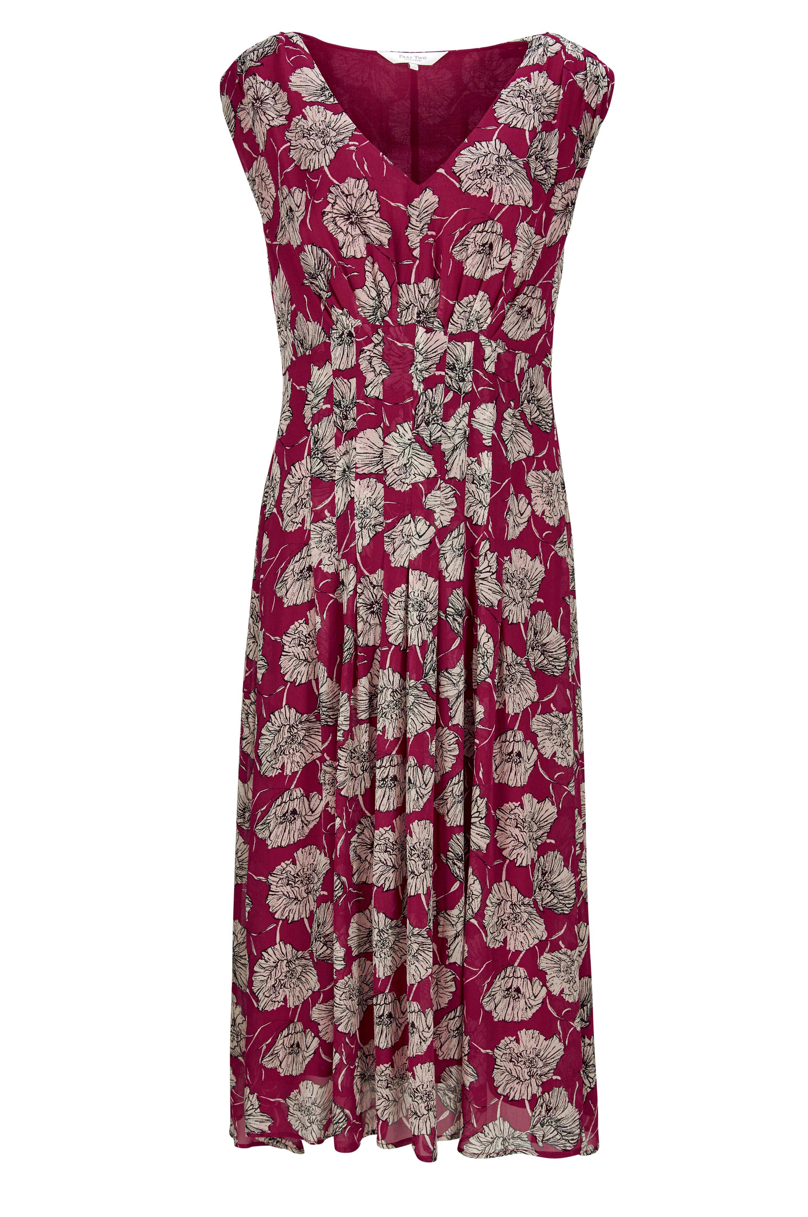 02118c515100 Ærmeløs kjole Iphi Dress fra Part Two i blød georgette med blomsterprint og  detaljerede læg.
