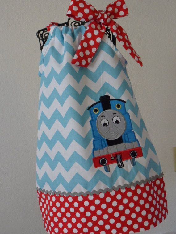 Thomas The Train Pillowcase Custom Just Ordered This Thomas The Train Pillowcase Dress For Tess On Etsy