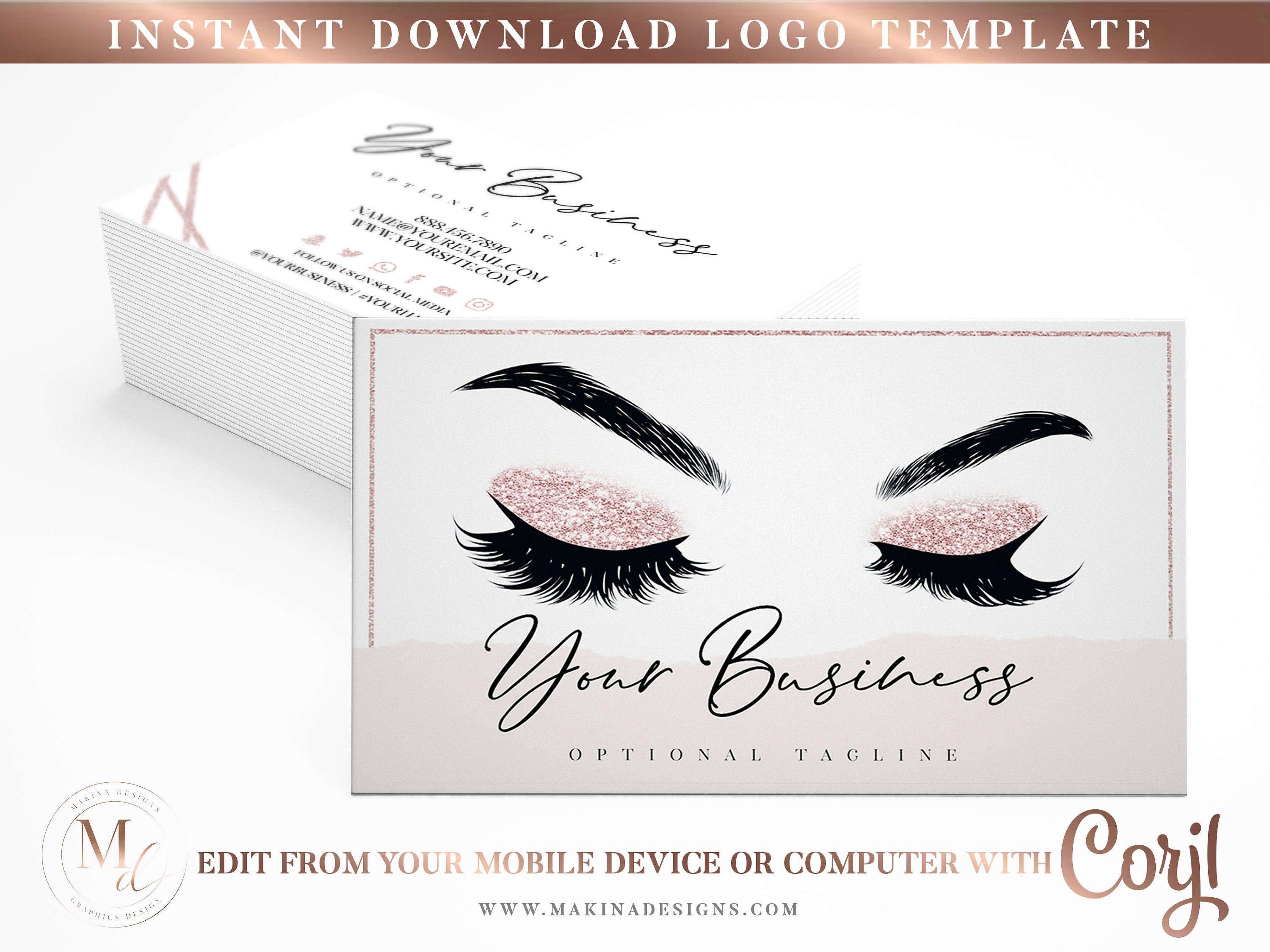 Business Card Template Business Card Card Design Logo Etsy Card Design Card Template Business Card Template