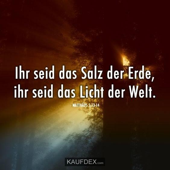 Ihr Seid Das Salz Der Erde Ihr Seid Das Licht Der Welt