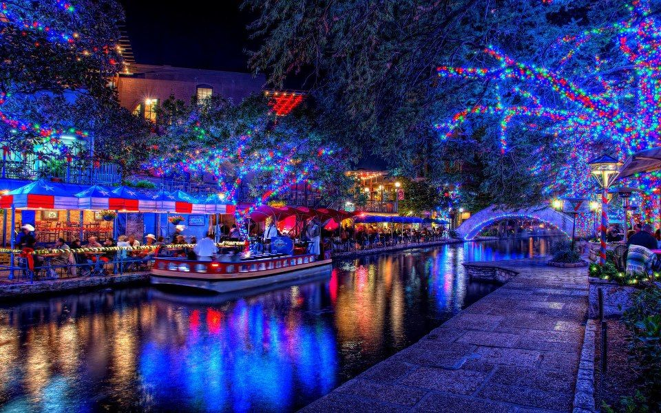 San Antonio, Texas Riverwalk Christmas Pinterest