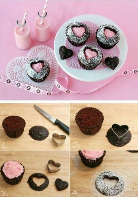 cupcakes decorating idea.grate for Valentines day.