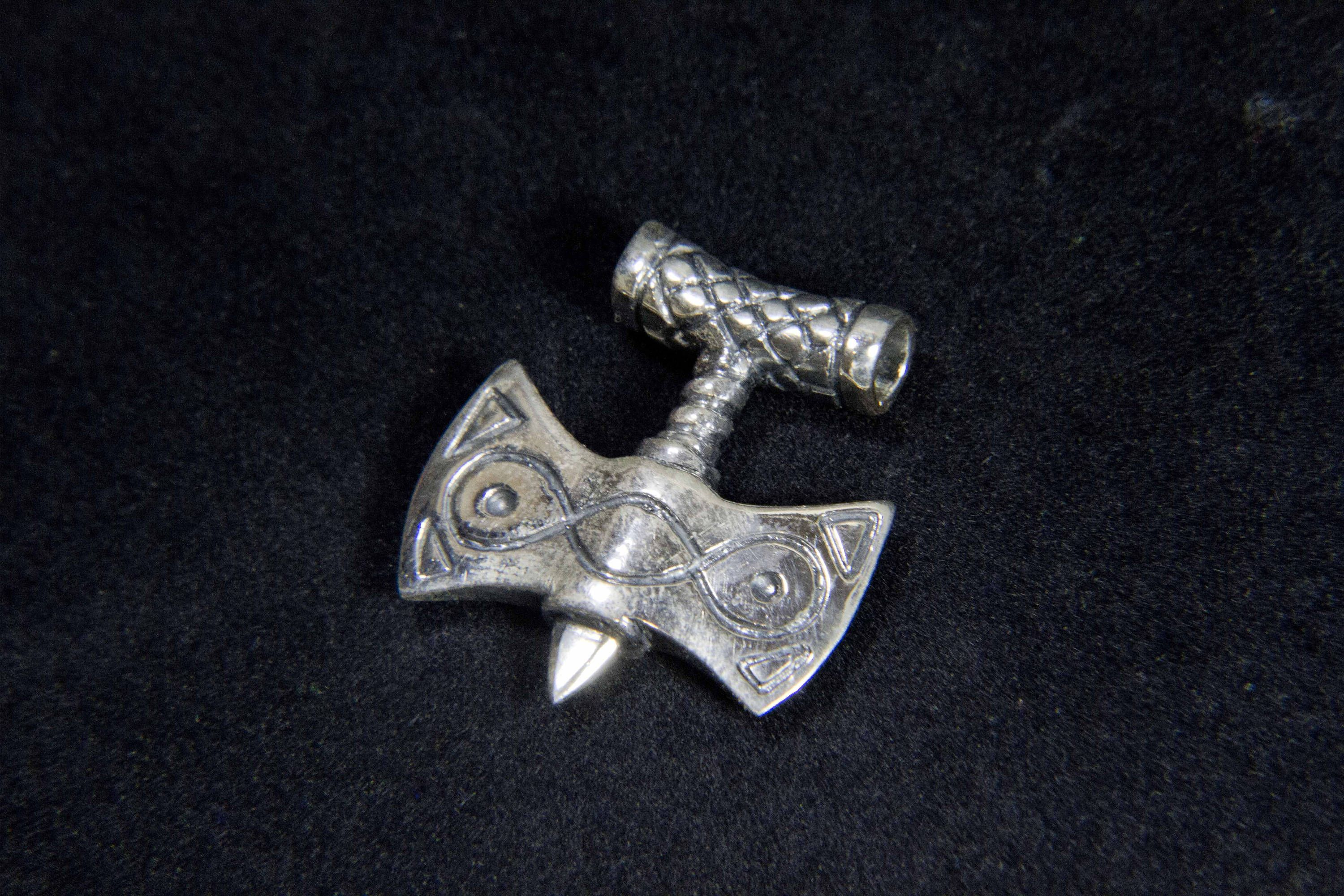 Amulet Of Talos this is a hand crafted sterling silver amulet of talos based