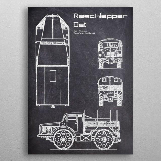 Radschlepper Ost by FARKI15 DESIGN | metal posters - Displate | Displate thumbnail