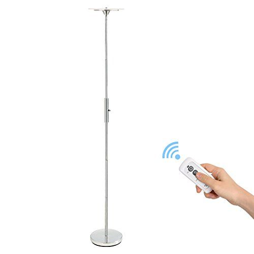 stratosphere modern efficient floors the deals head ultra led standing major bedroom light energy level shop touch dimmable for pole saving q daylight lumens best fixture bk dorm indoor find torchiere lamp large bright adjustable on warm floor living room black