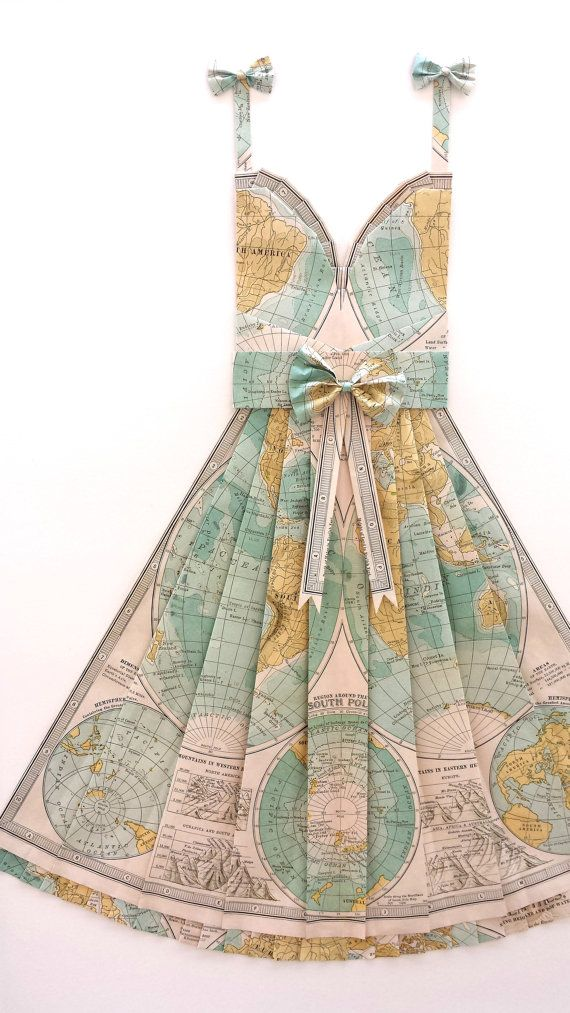 Large map of the world hand folded map dress teal light blue large map of the world hand folded map dress teal light blue 24 x 36 gumiabroncs Image collections