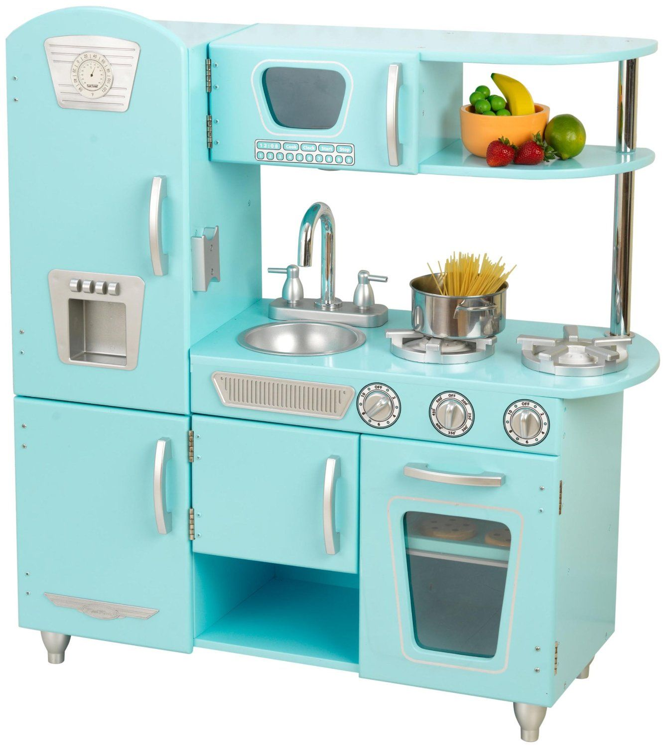 Young Chefs Will Love Cooking Up Feasts For The Whole Family With Adorable Kidkraft Blue Vintage Kitchen Is Made Of