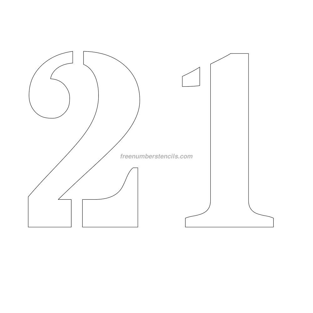 images of numbers 21   stencil-number-11-inch-21   NUMBERS ...