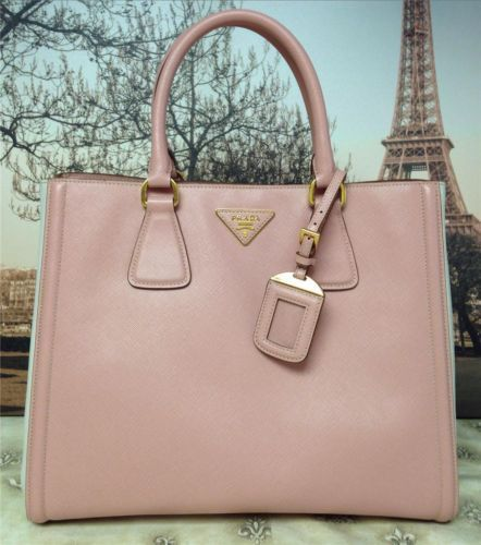 ca0e6a99cb36 ... shopping prada pink bone saffiano leather shopping garden tote  shoulderbag handbag purse ebay 4f71a ea53a
