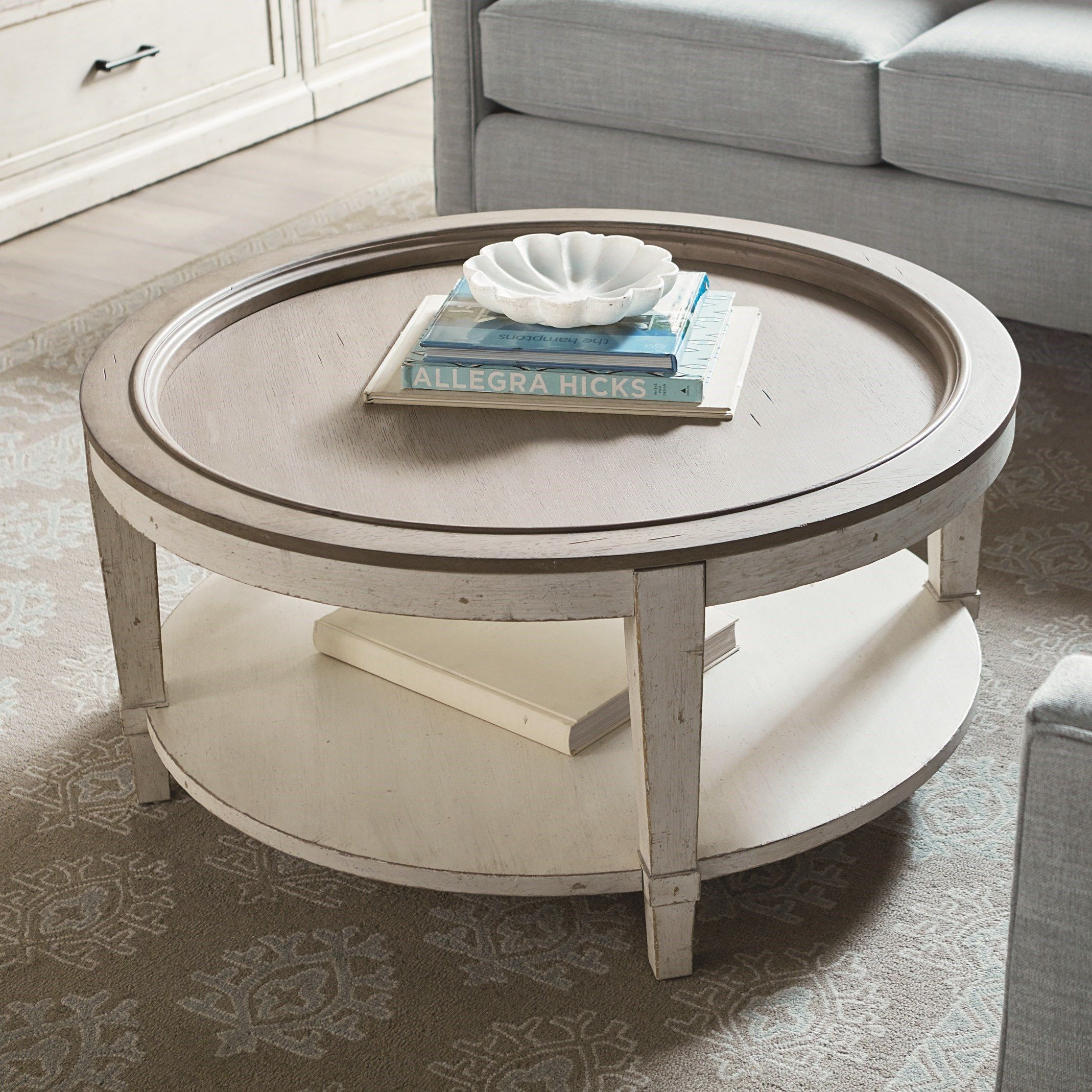 Bella Round Cocktail Table By Bassett At Virginia Furniture Market Round Cocktail Tables Cocktail Tables White Round Coffee Table [ 2138 x 2138 Pixel ]