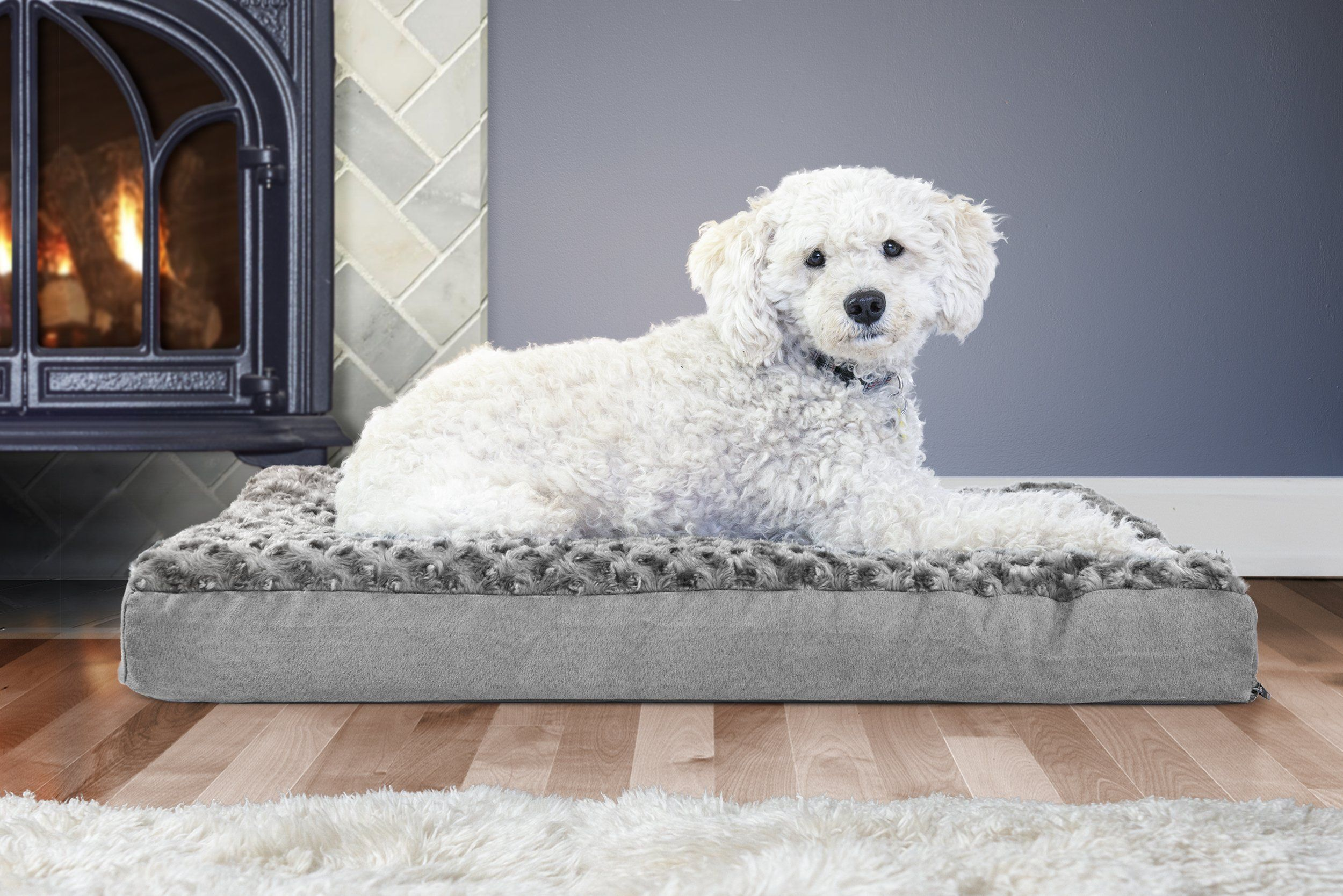 FurHaven Deluxe Orthopedic Pet Bed Mattress for Dogs and