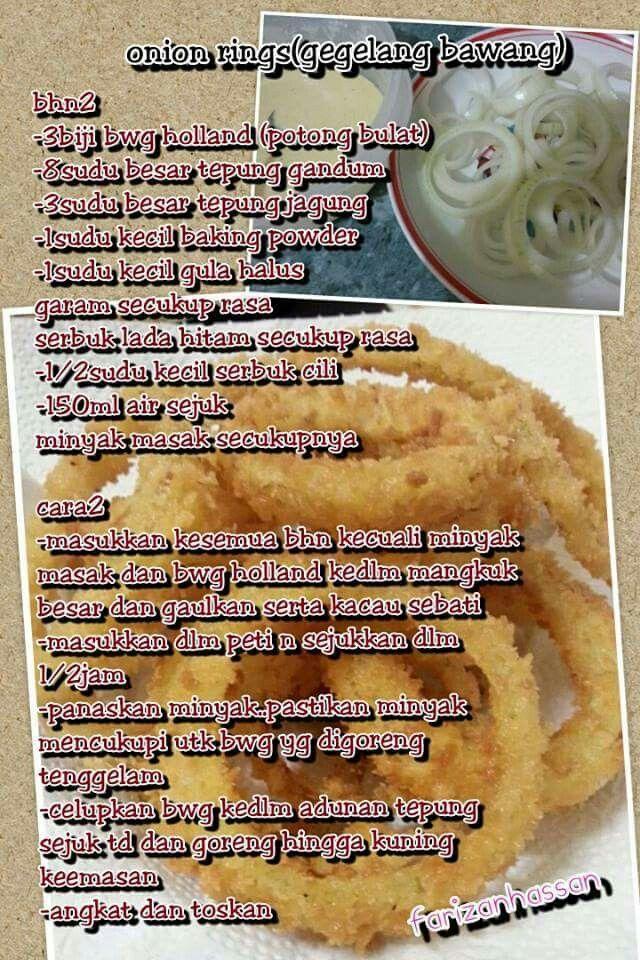Sedap Mudah Resipi Onion Ring Berkeju Ni Memang Best Rasa Onion Rings Onion Food