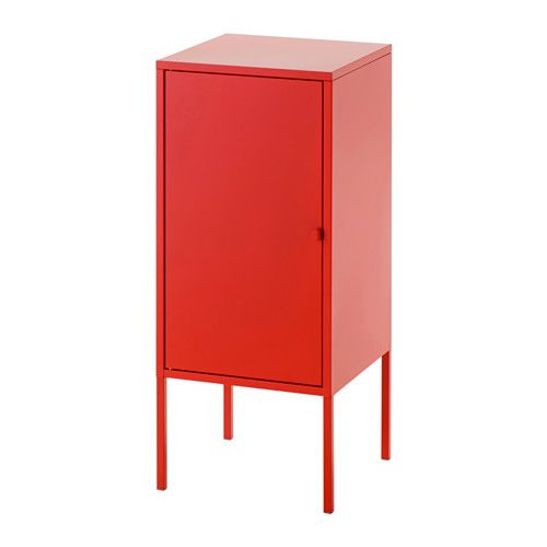 Ikea Lixhult Cabinet Metal Red Helps You Keep Track Of Small Items Like Chargers Keys And Wallets Or More Bulky Handbags Toys
